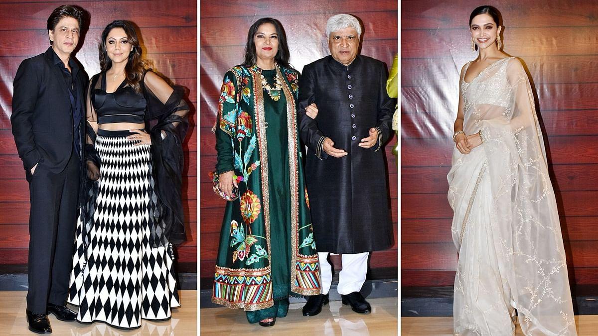 Pics: Shah Rukh, Deepika Attend Javed Akhtar's Grand B'Day Bash