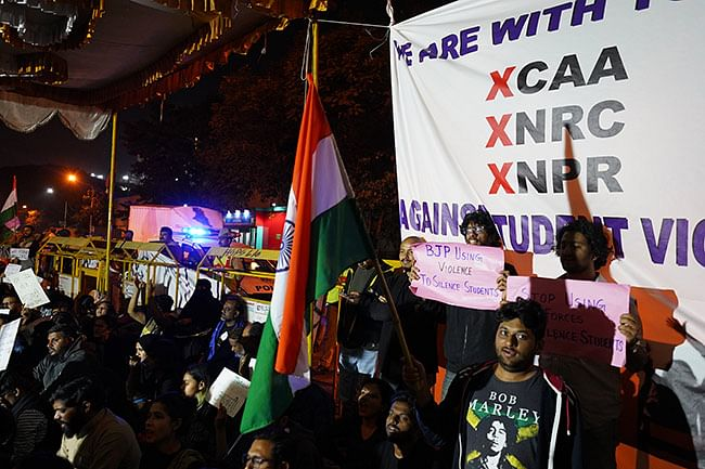 Bengaluru's first overnight protests  against CAA-NRC and the JNU violence.