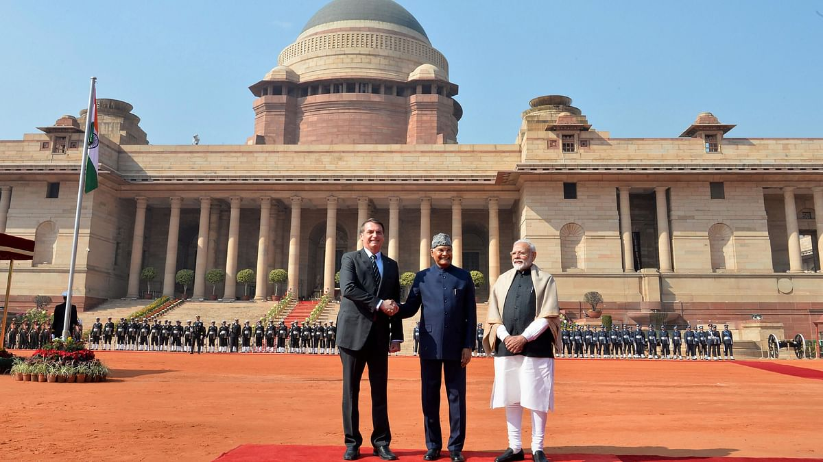 Brazilian President Bolsonaro Witnesses R-Day Parade at Rajpath