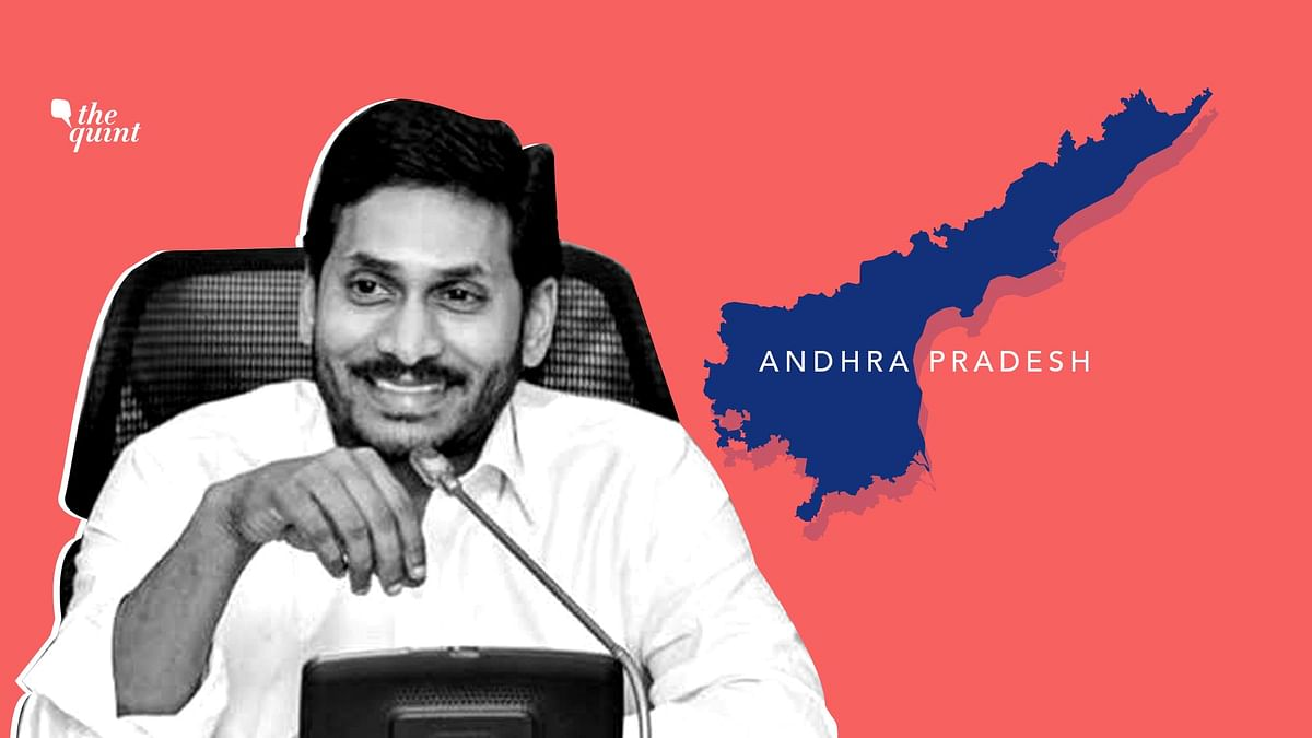 File image of Chief Minister Jagan Reddy and Andhra Pradesh map, used for representational purposes.