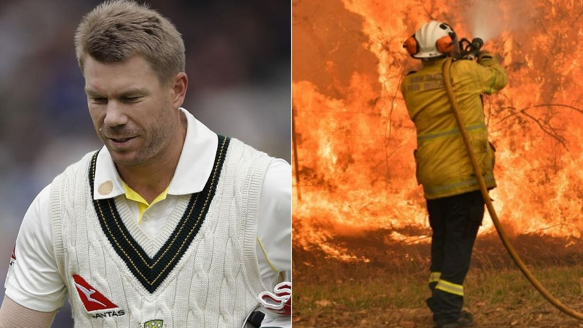 Australia opener David Warner on Thursday, 2 January hailed the firefighters currently working day and night to douse the flames of the devastating bushfires, saying they are the real heroes.