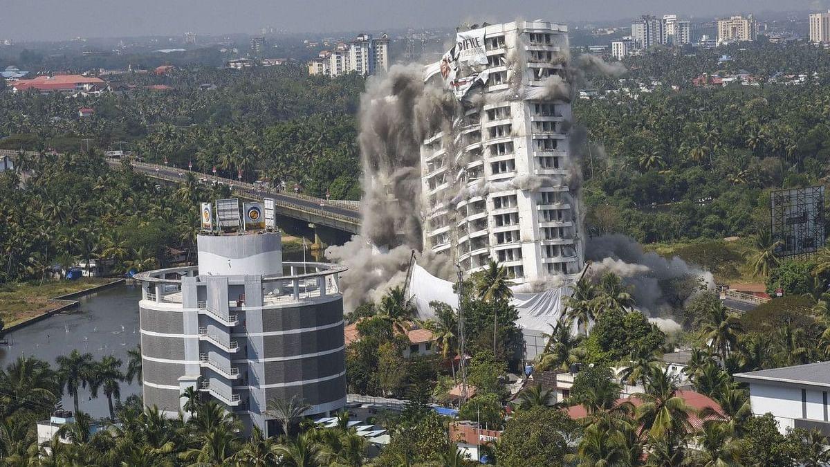 All 4 Illegal Complexes in Kochi's Maradu Razed as per SC Orders
