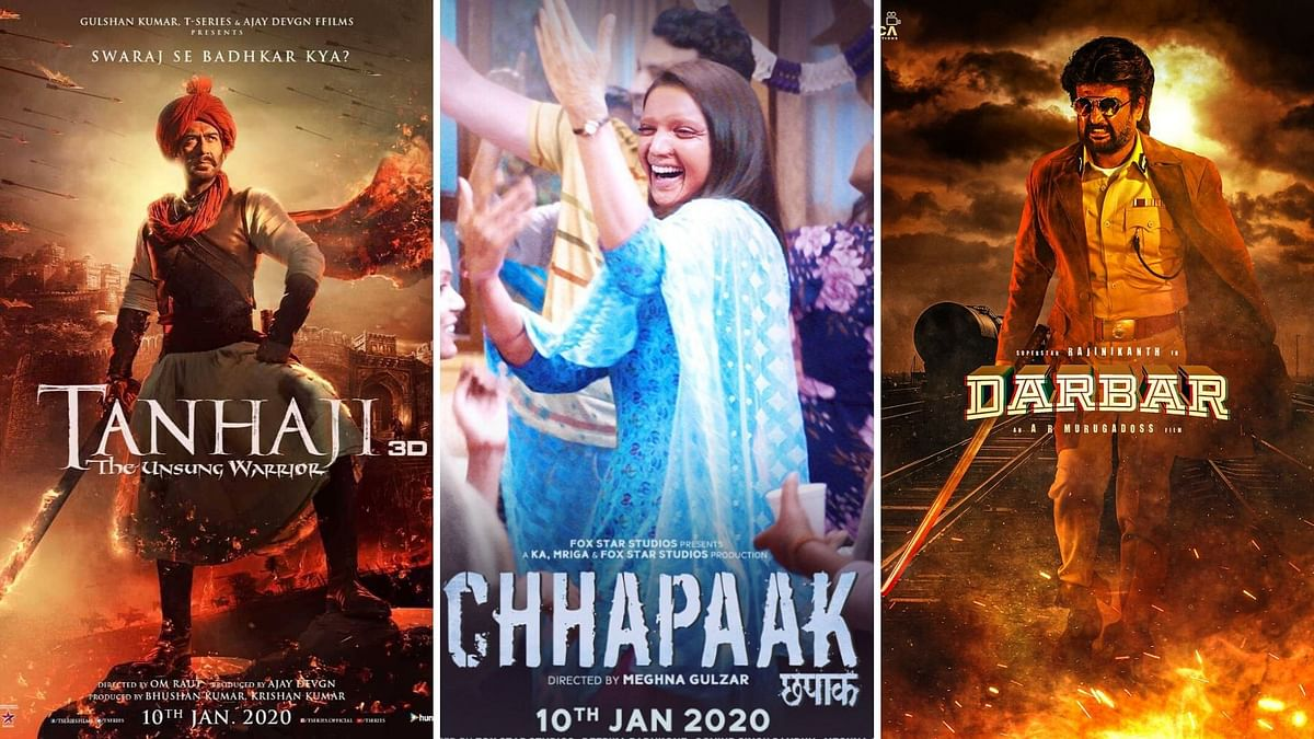 'Darbar', 'Tanhaji' or 'Chhapaak': Which Will Rule the Box Office?