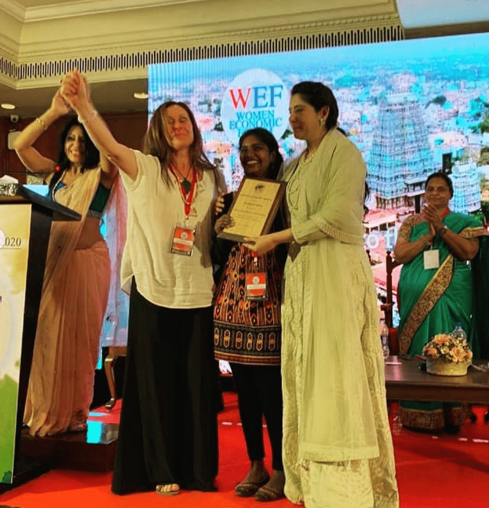 Jayashree recently won the award of Exceptional Woman of Excellence at the Women's Economic Forum 2020.