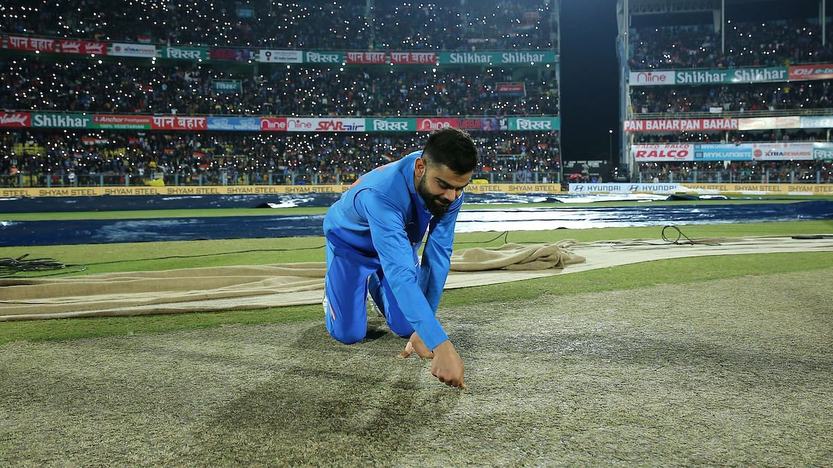 Using hair dryer to dry the pitch after water seeped in through leaking covers is not something that is expected at an international cricket ground.