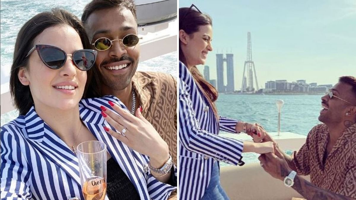 Cricketer Hardik Pandya and actress Natasa Stankovic get engaged.