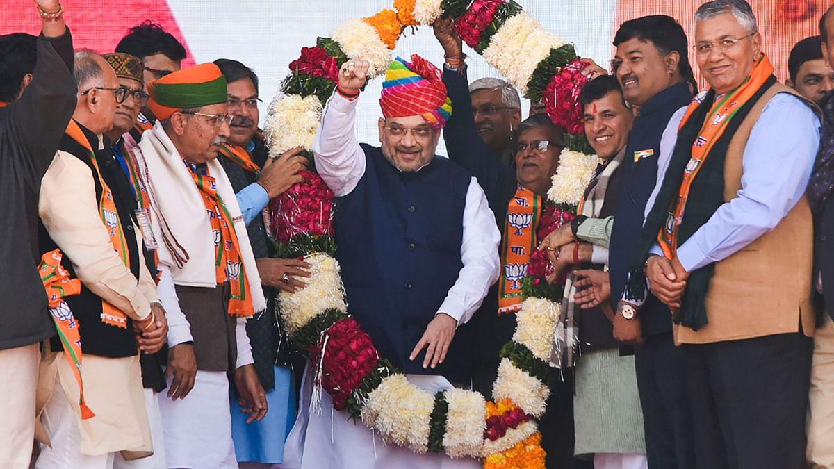 Home Minister Amit Shah in Jodhpur.