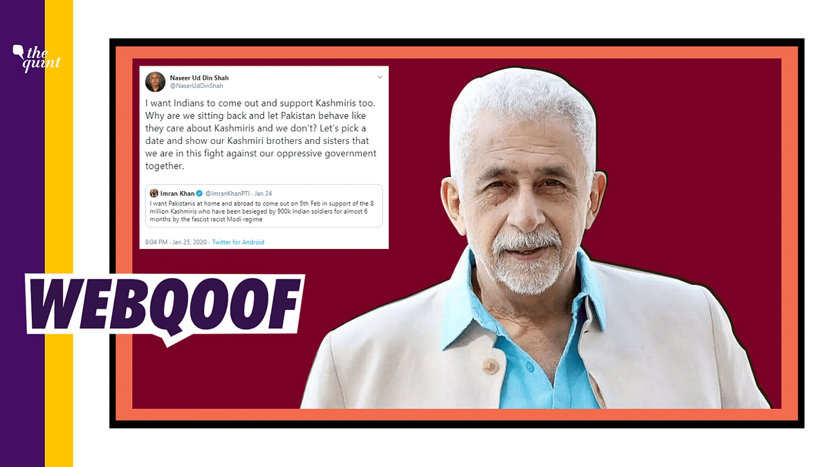 Naseeruddin Shah Didn't React to Pak PM's Tweet, A Fake Handle Did