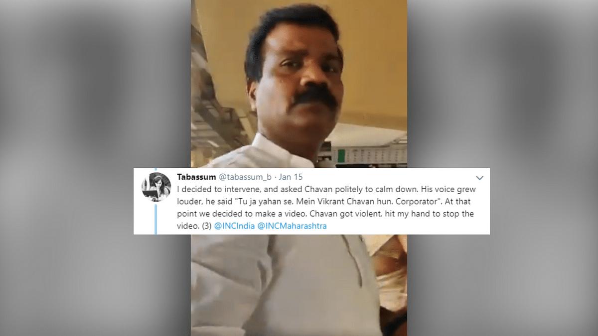 Cong Corporator Threatens Mumbai Metro Staff, Shouts at Journalist