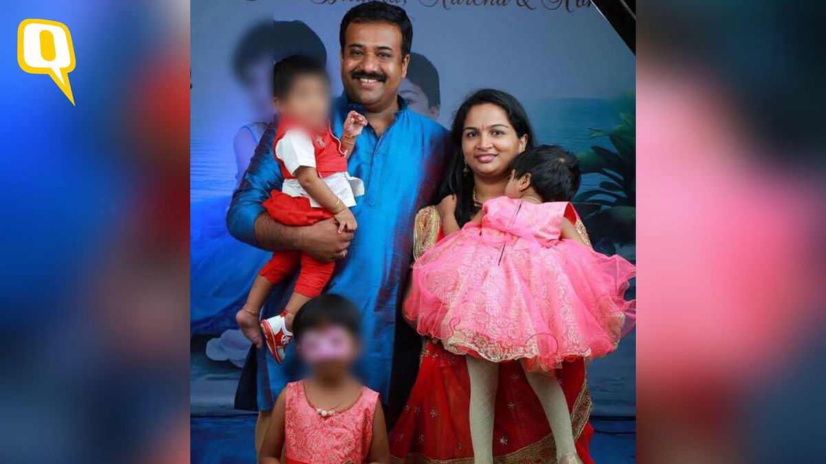 39-year-old Praveen Nair along with 34-year old Saranya and their kids.