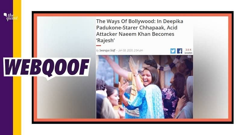 'Chhapaak' Acid Attacker's Religion Changed? Swarajya Got It Wrong