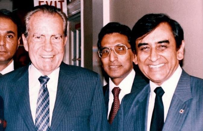 Adnan Sami's father Arshad Sami Khan (right) with former US President Richard Nixon.