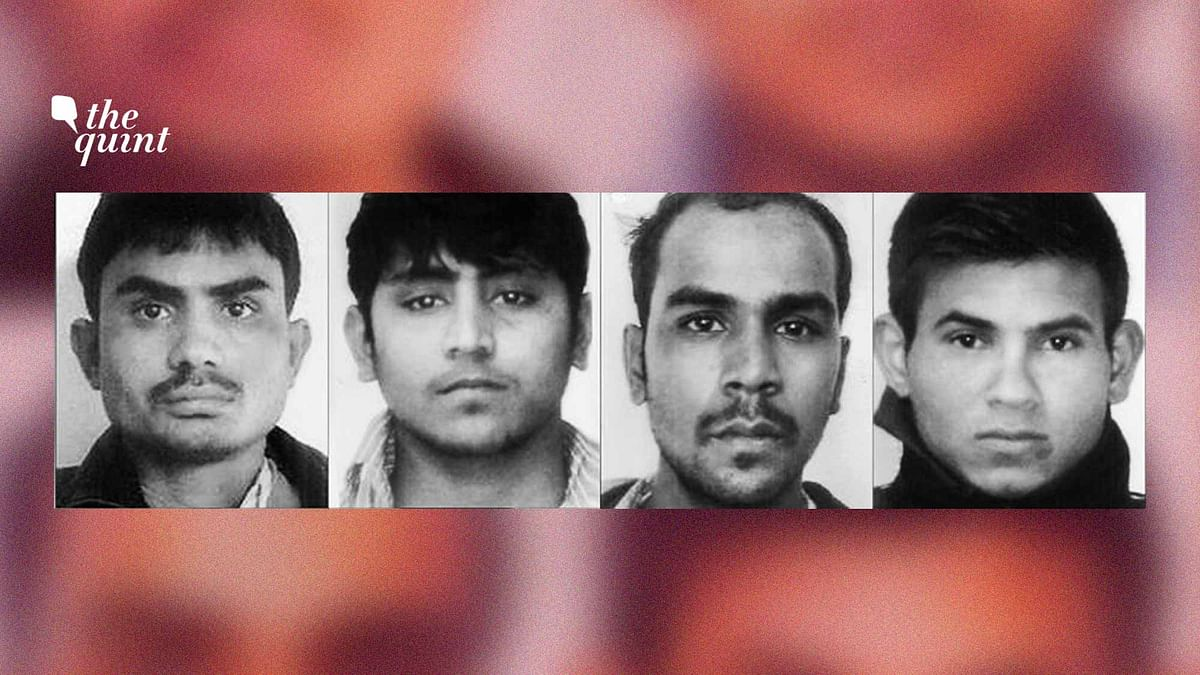 Composite image of the four Nirbhaya gang rape convicts.