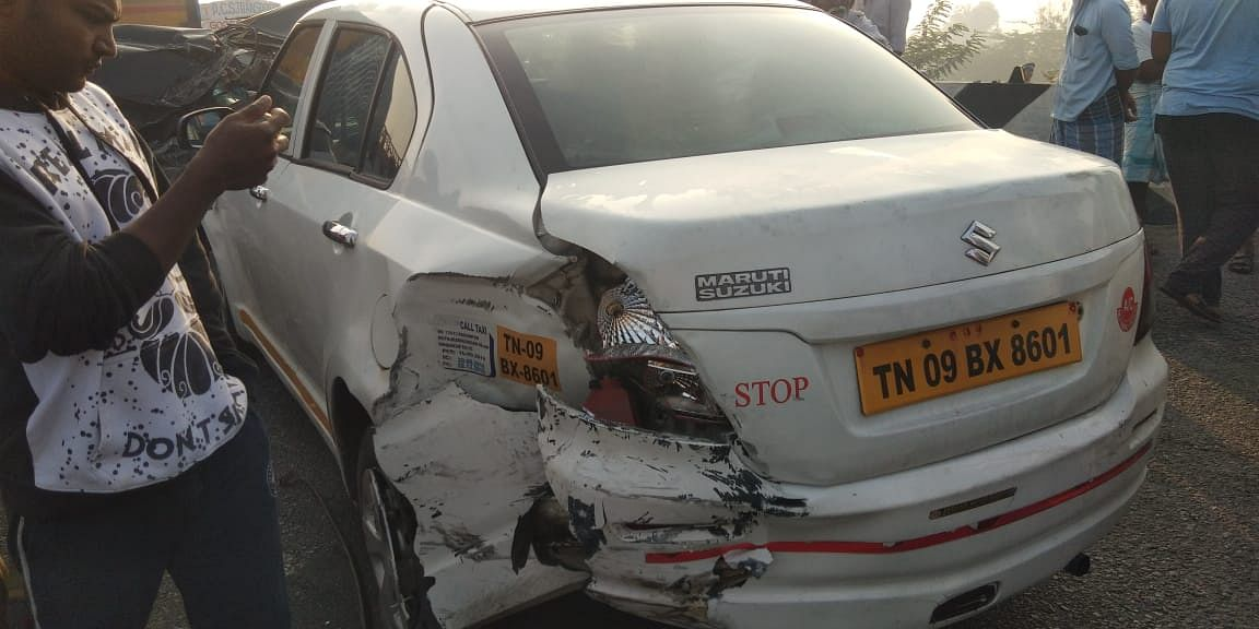Over 10 vehicles collided in the Chennai-Vellore Highway, due to poor visibility during early hours of the day.