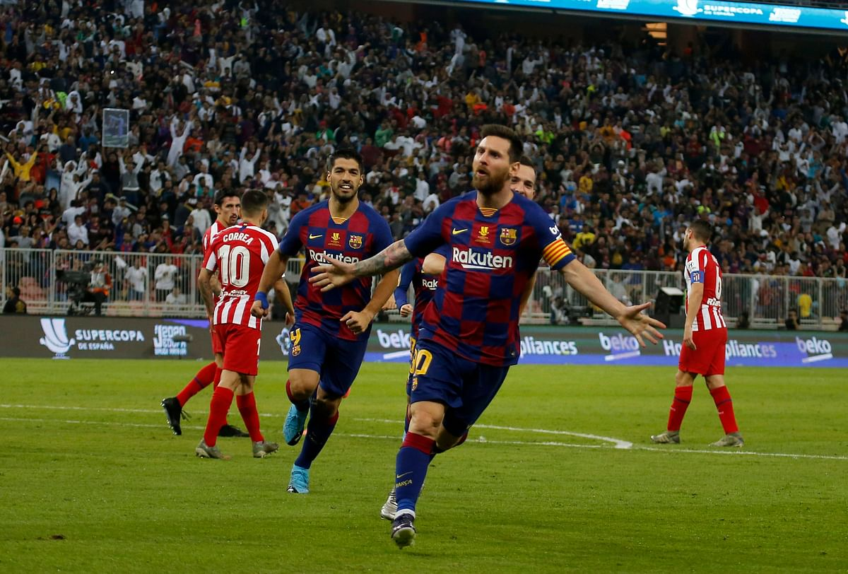 Barcelona started its comeback five minutes later with Messi equalizing with a well-placed shot after getting past two defenders inside the area