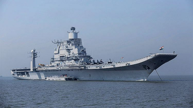 Indian Navy Deploys INS Vikramaditya Amid China-Pak Naval Drills