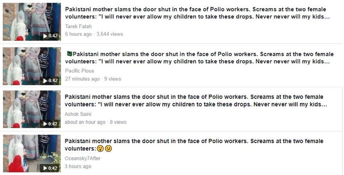Pak Woman Yelled at Polio Workers? No, Tarek Fatah Gets It Wrong