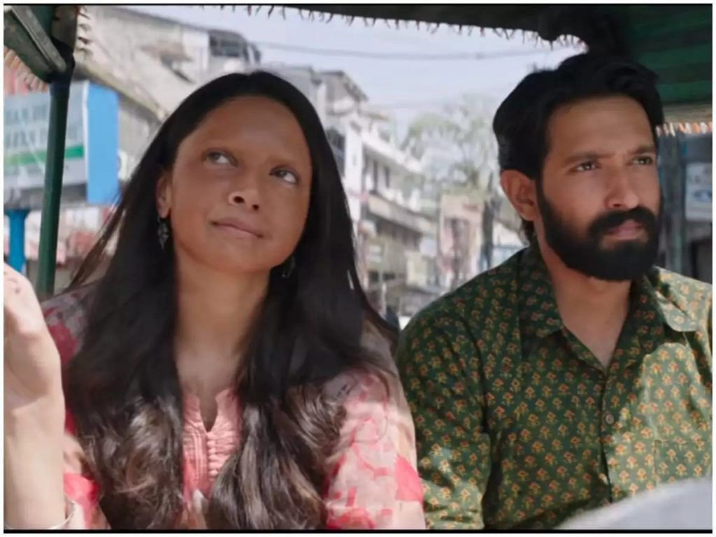 Deepika Padukone and Vikrant Massey in a still from <i>Chhapaak</i>.