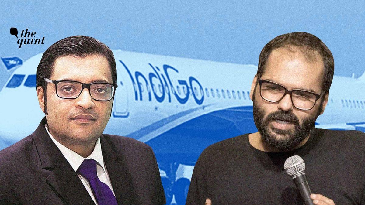 Arnab Goswami (L) and Kunal Kamra (R).