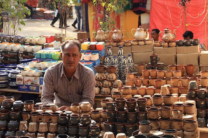 File image of traditional handicrafts at the Surajkund Mela.