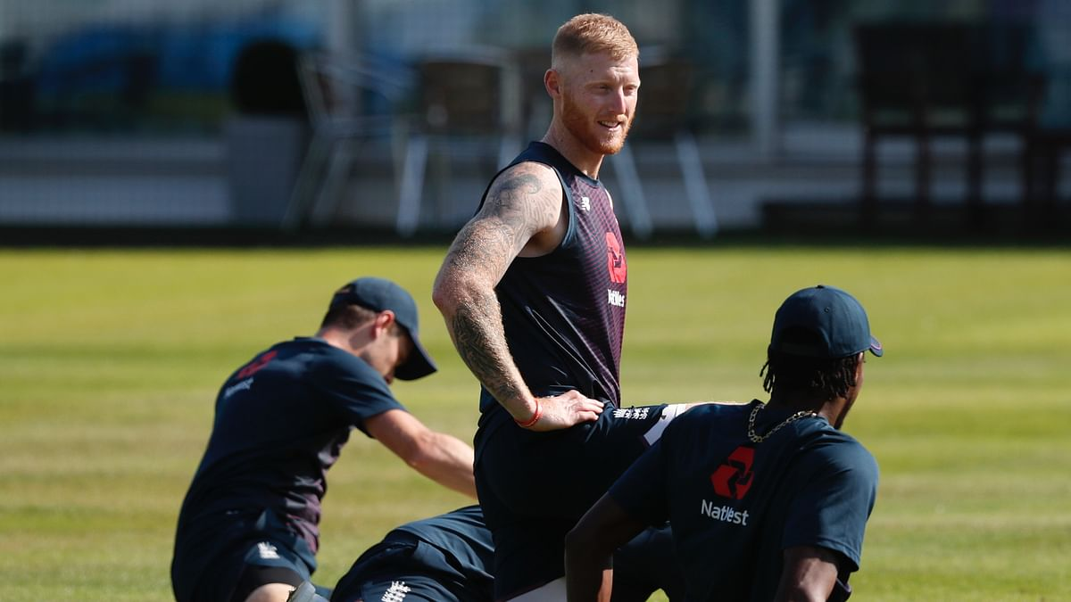 England's Ben Stokes at training