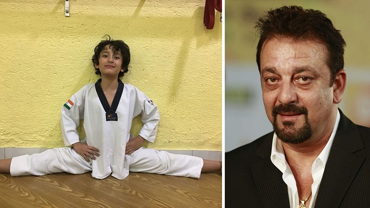Sanjay Dutt is a proud father.