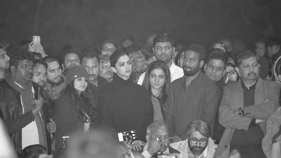 Deepika Padukone was at JNU to show solidarity with the students attacked by a masked mob.