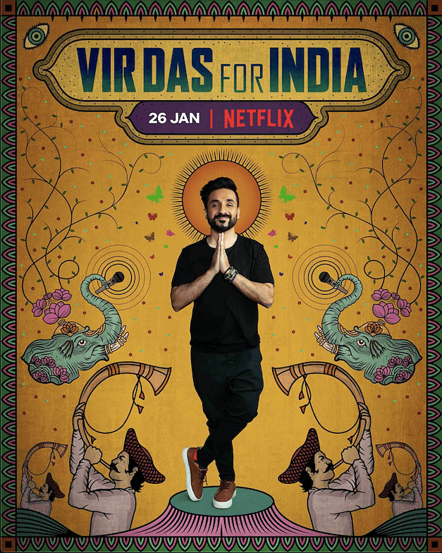 Vir Das talks about everything Indian possible in <i>For India.</i>