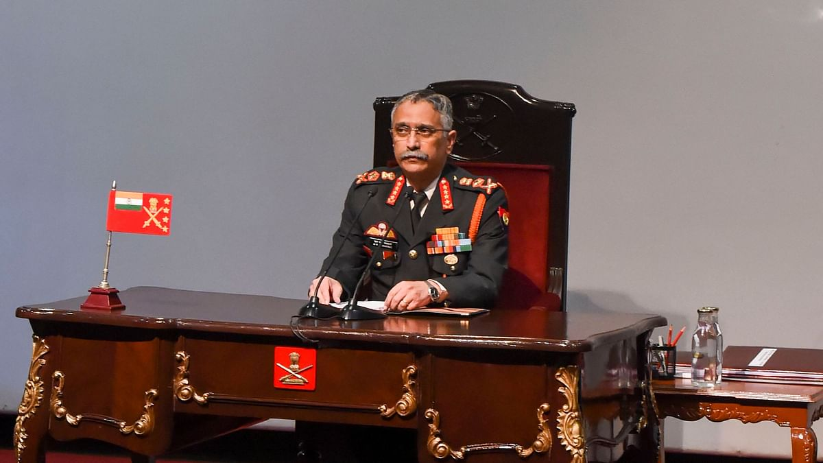 Chief of Army Staff Gen M M Naravane during the annual press conference in New Delhi.