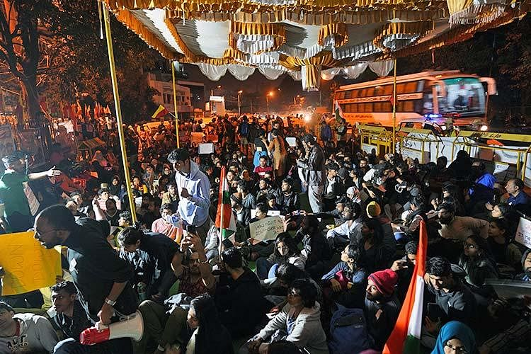 Bengaluru's first overnight protests against CAA-NRC and the violence towards students in JNU.