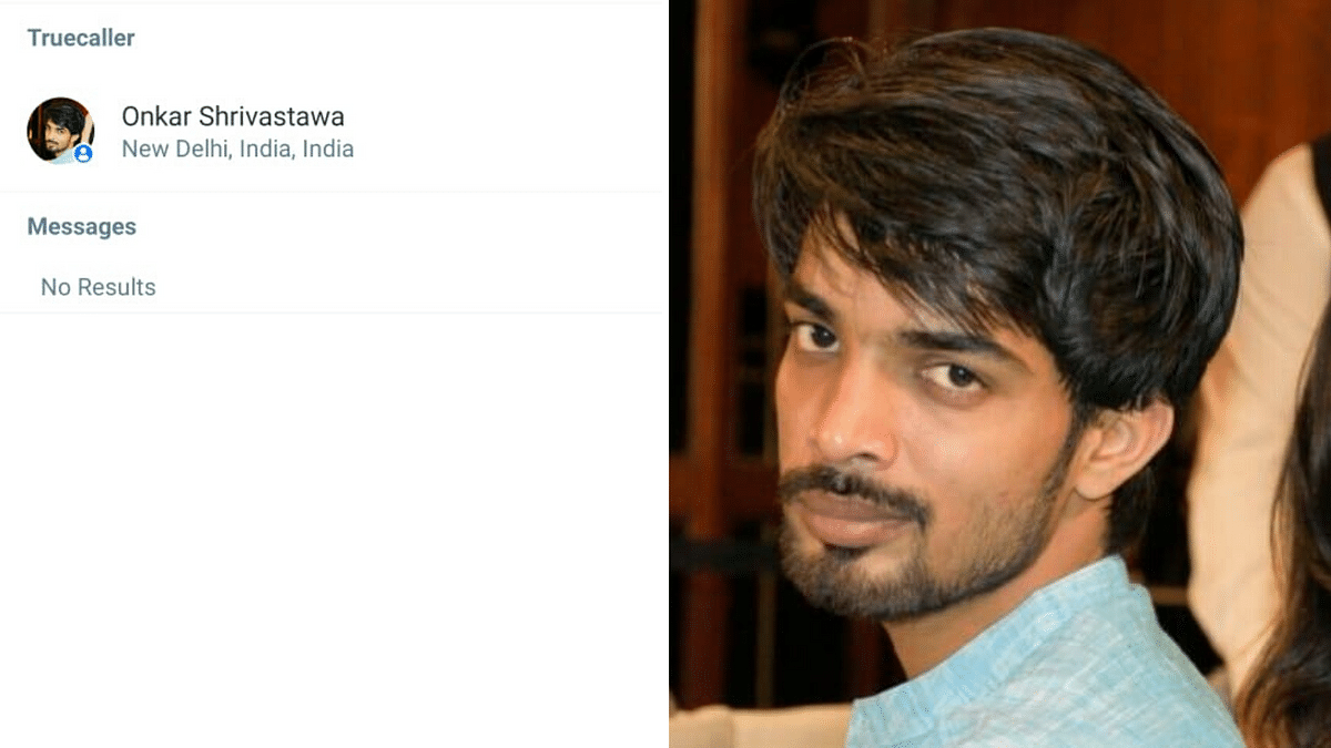 Left: Truecaller showed Onkar's photo. Right: Same photo available on his Facebook profile.