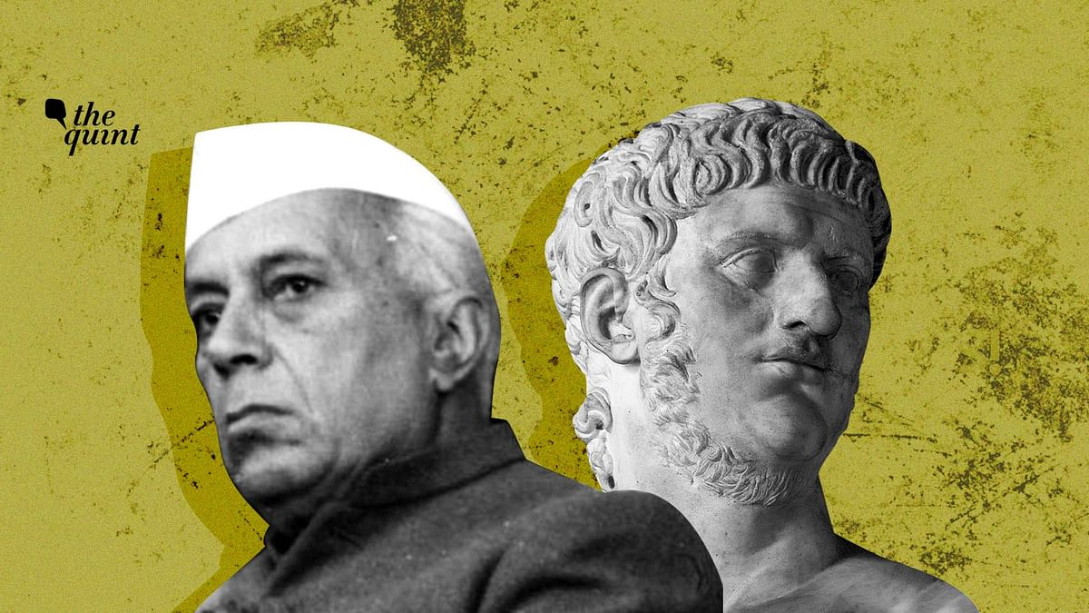 Image of Pt Nehru (L) and the Bust of Nero (the Roman emperor) used for representational purposes.