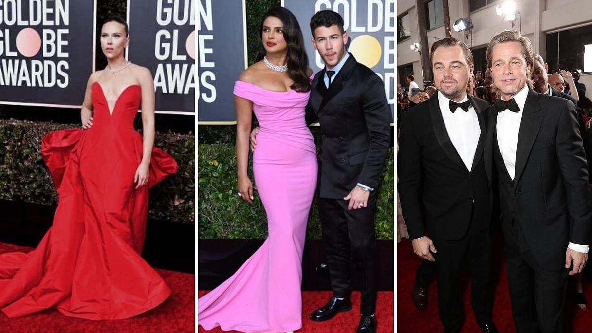 Pics: Priyanka, Nick, Brad Pitt Walk The Golden Globe Red Carpet