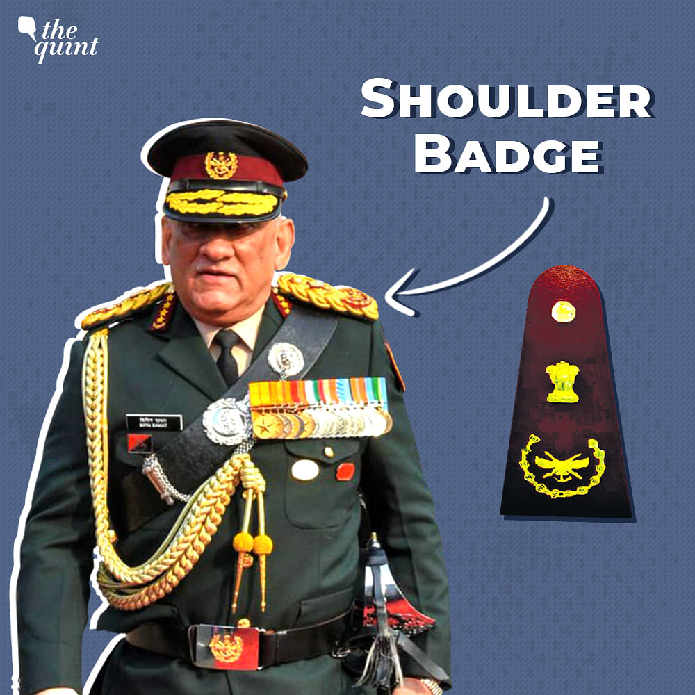 A new shoulder badge bearing the official CDS insignia and the Ashoka emblem.