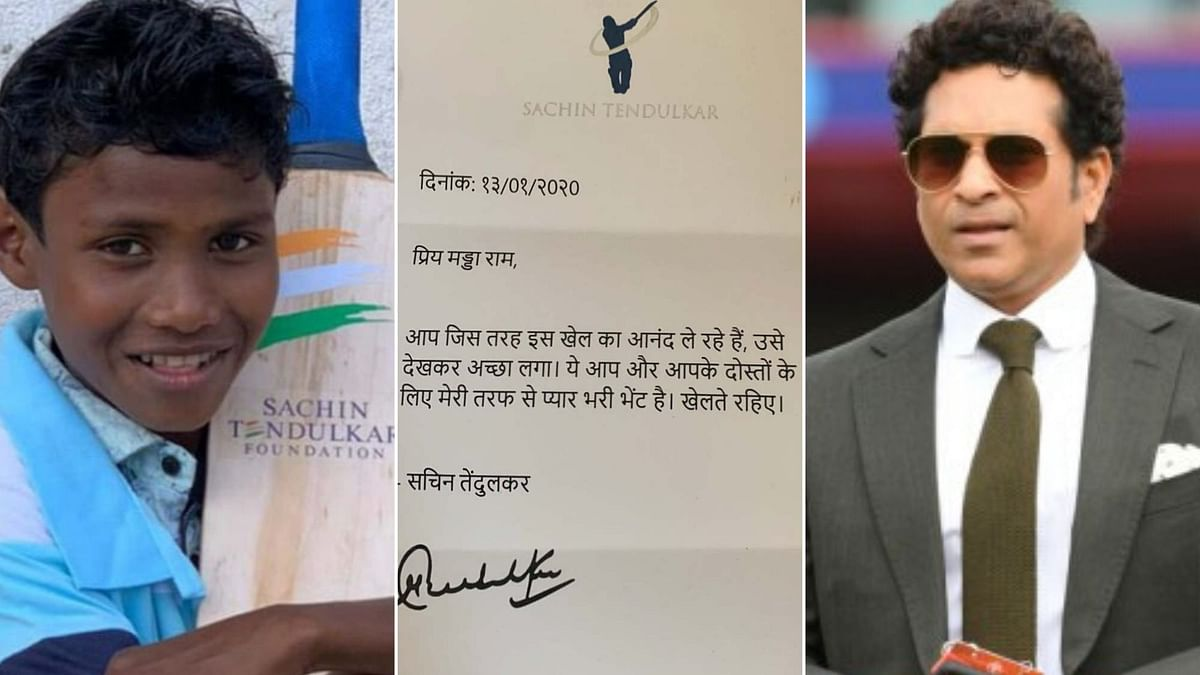 Tendulkar Gifts Cricket Kit to Specially-Abled Boy From Bastar