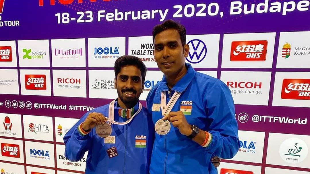 Sharath and Sathiyan  went down fighting 5-11, 9-11, 11-8, 9-11 to the 16th seeds Benedikt Duda and Patrick Franziska of Germany in a 30-minute summit showdown.
