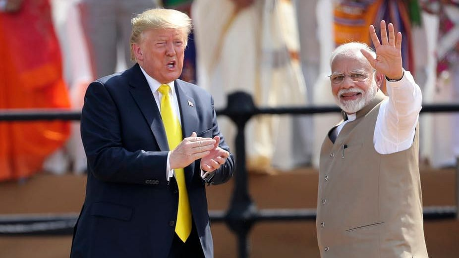 President Trump and Indian Prime Minister Narendra Modi in Ahmedabad, India