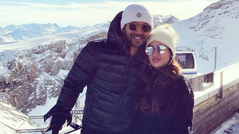 Varun Dhawan with girlfriend Natasha Dalal.