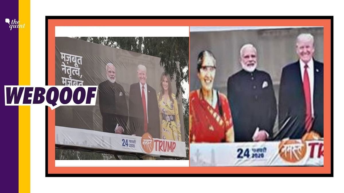PM Modi's Estranged Wife's Photo Morphed on 'Namaste Trump' Poster