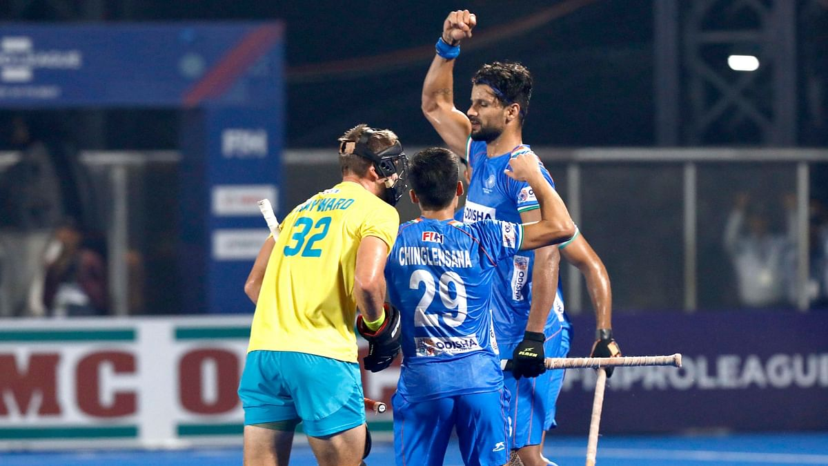 Rupinder equalised for India in the second half, converting a penalty corner with a low drag-flick.
