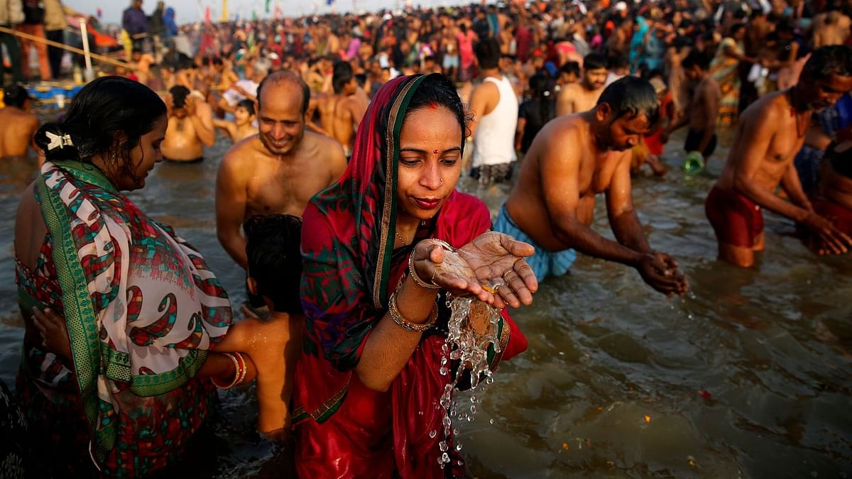 Gaumutra Eye Drops, Toothpaste on Sale at Prayagraj Magh Mela