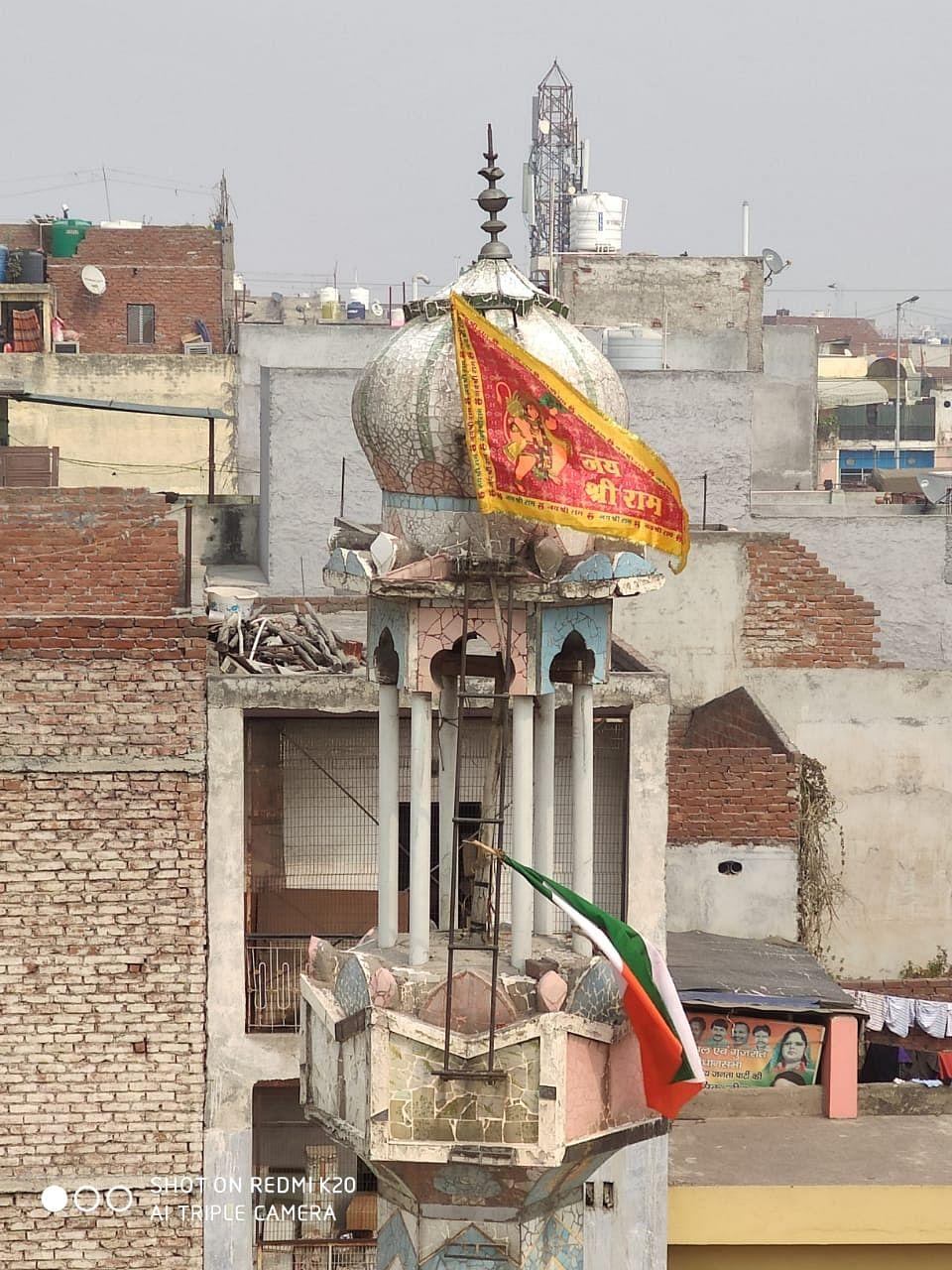 Flag Down, Repair Work Underway at Damaged Ashok Nagar Mosque