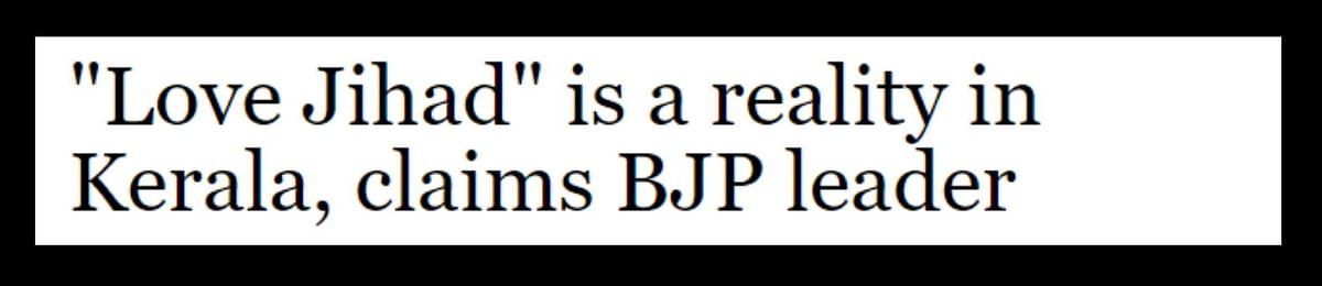 BJP in Parl: No Cases of Love Jihad. BJP Outside: Fight Love Jihad
