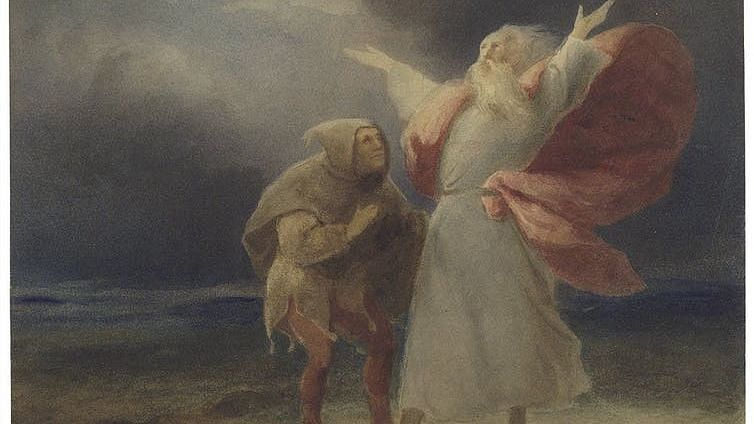 Lear and the Fool in the storm, Folger Shakespeare Library