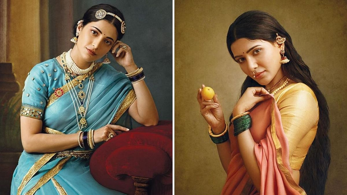 Shruti Haasan, Samantha Recreate Iconic Raja Ravi Varma Paintings