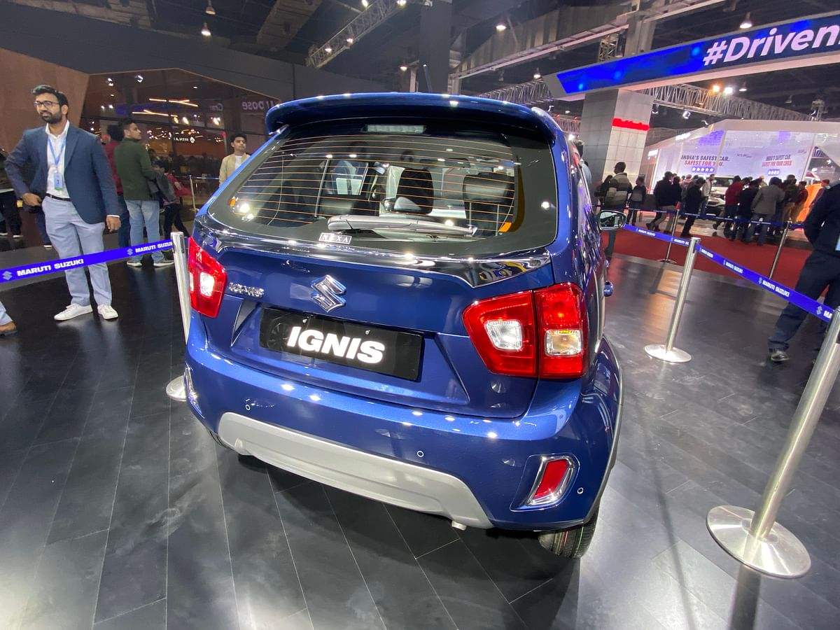 Rear design changes are barely noticeable on the Ignis.