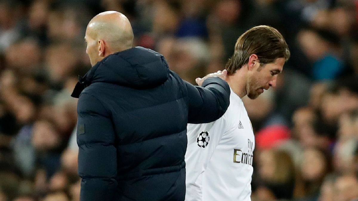 Sergio Ramos was sent off for preventing Jesus from going clear and Madrid's captain will now be banned for the second leg.