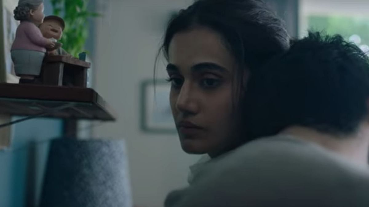 Taapsee Pannu in a still from <i>Thappad</i>.