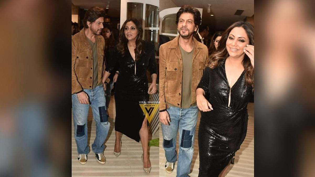In Pics: Shah Rukh Khan Surprises Wife Gauri at Her Store