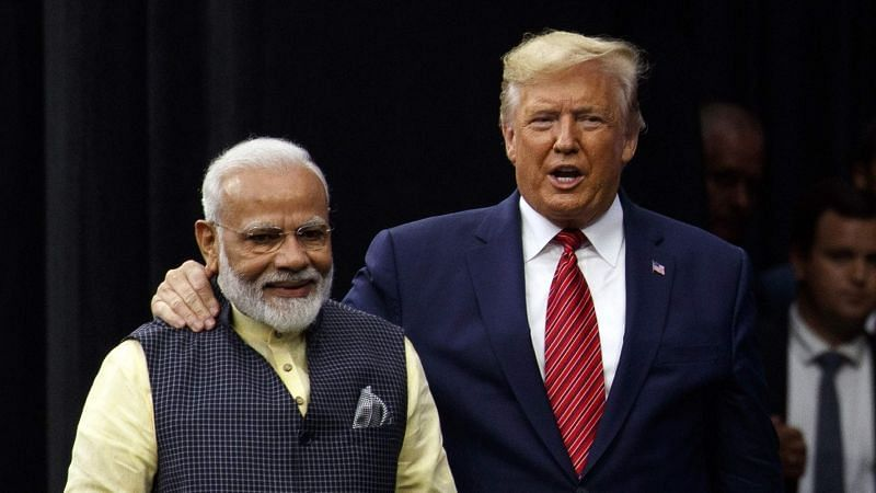 PM Narendra Modi with POTUS Donald Trump.